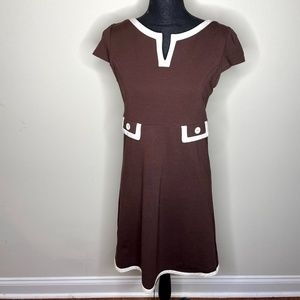 Lilly Pulitzer Clearly Colorblock Brown Dress 8